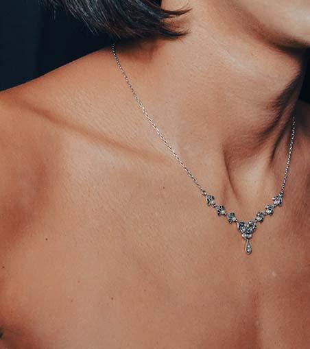 Precious Metal and Pearl Necklaces