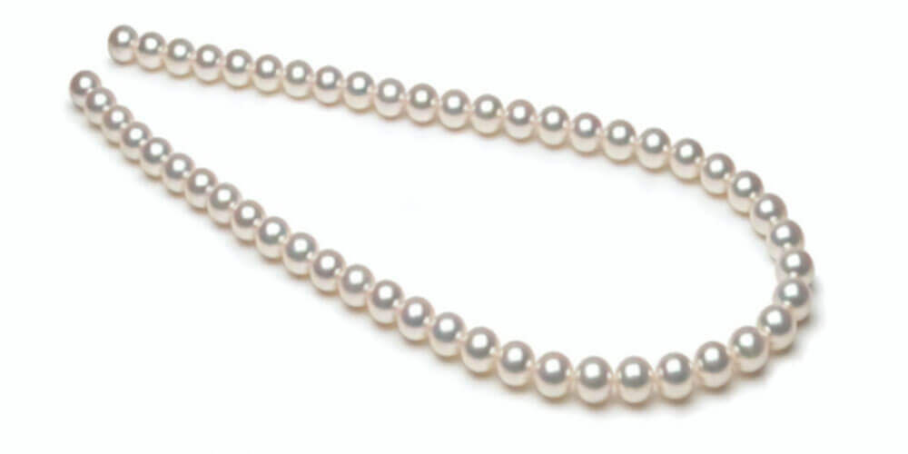 White Akoya Pearl Necklaces | Hanadama Grade