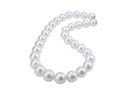 White South Sea Graduated Pearl Necklace