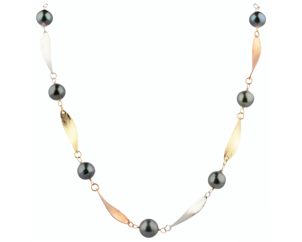 Tahitian Baroque Pearl Tri-colour Necklace