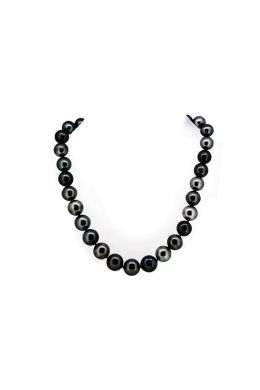 Tahitian Pearl Necklace with Diamond Set Clasp