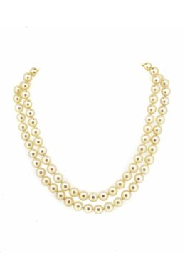 Japanese Akoya Culture Pearl Double Row Necklace - main image