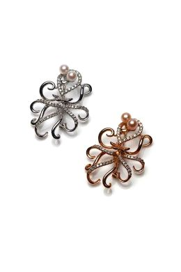 Fun 18ct gold and Diamond Octopus Brooch