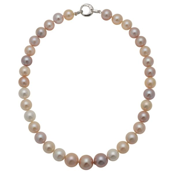 Freshwater Pearl Pastel Multi-Tone Necklace 12 to 15mm