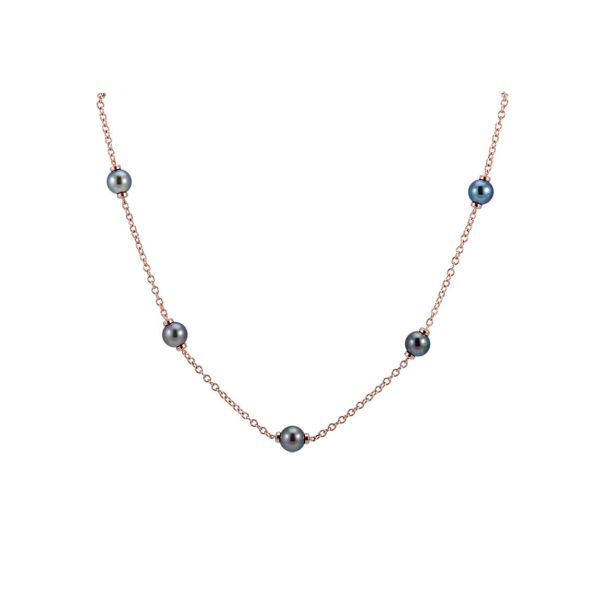 """Tahitian Pearl & Chain Link """"Mary Berry"""" Style Necklace  