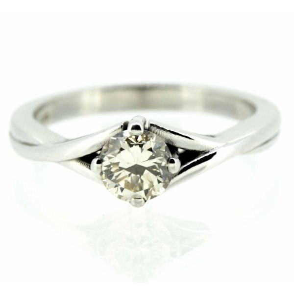 18ct White Gold Diamond Solitaire Ring - main image