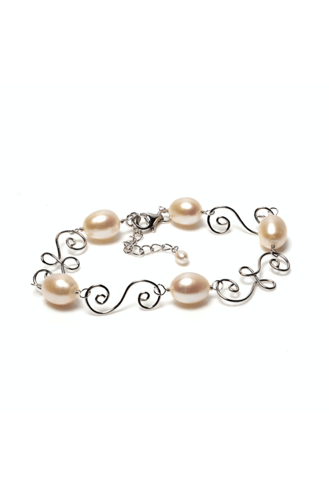Silver and Freshwater Cultured Pearl Bracelet