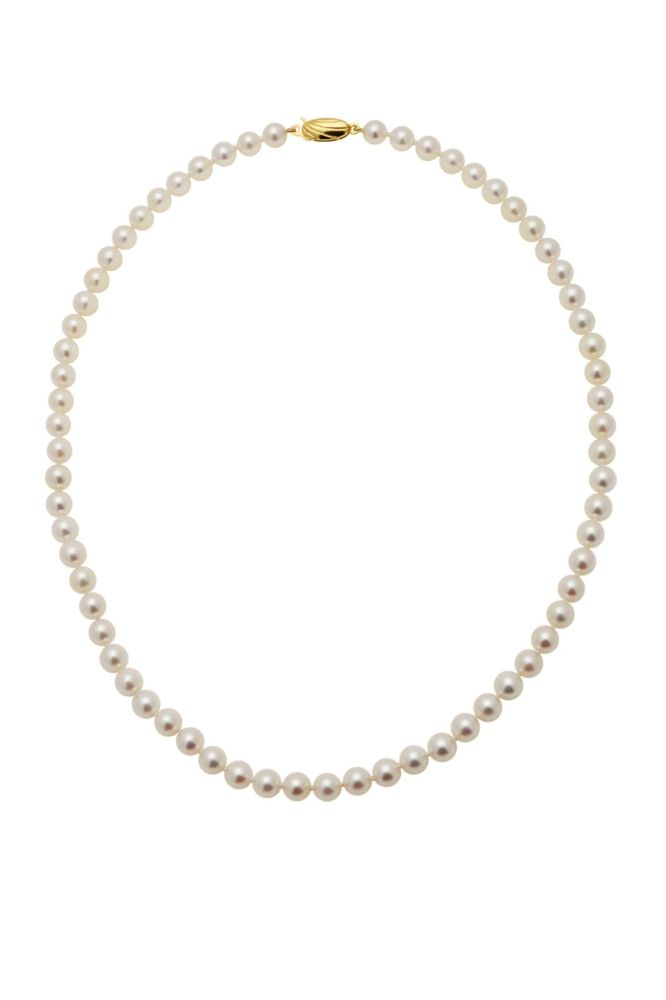 Akoya Pearl Necklace 6/6.5mm On Gold Clasp