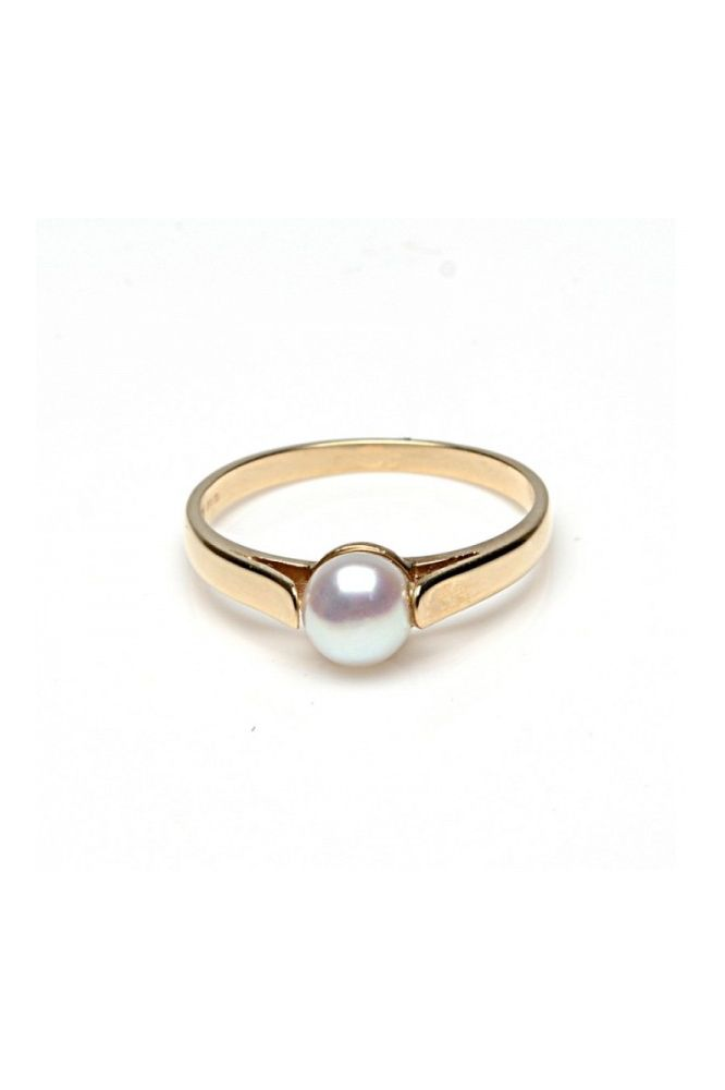 Freshwater Cultured Bouton Pearl Ring | 9ct Yellow Gold