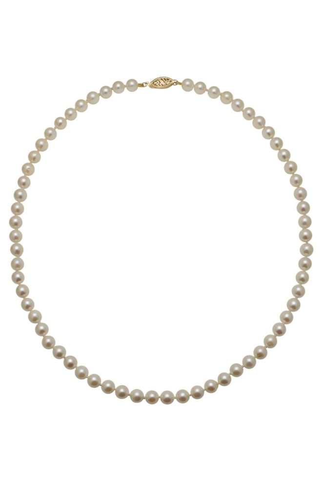 Akoya Pearl Necklace 5.5/6mm on 9ct Clasp