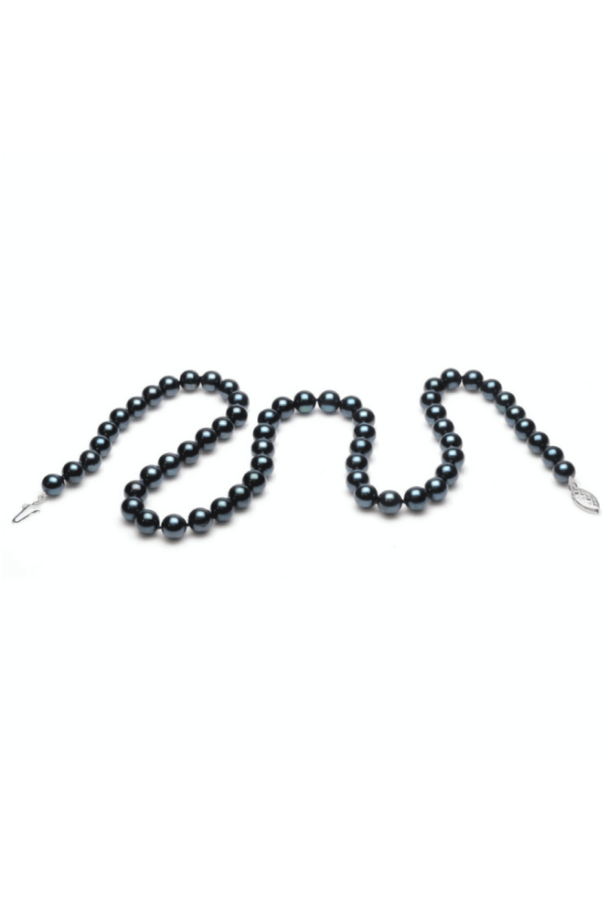Akoya Black Pearl Necklace 6.0-6.5mm AA Grade