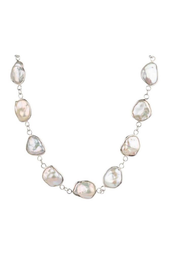 Bold Baroque Freshwater Cultured Pearl Spectacle Set Necklace