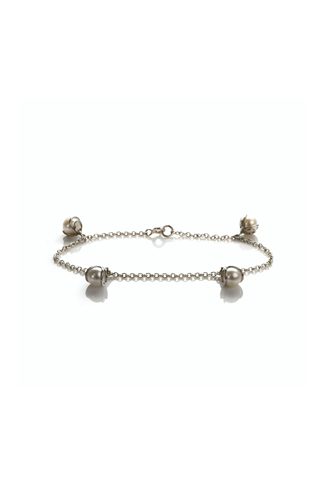 Freshwater Cultured Pearl Charm Bracelet | Silver