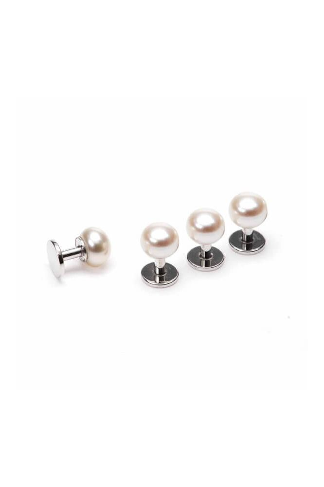 Classic Silver and Pearl Dress Studs