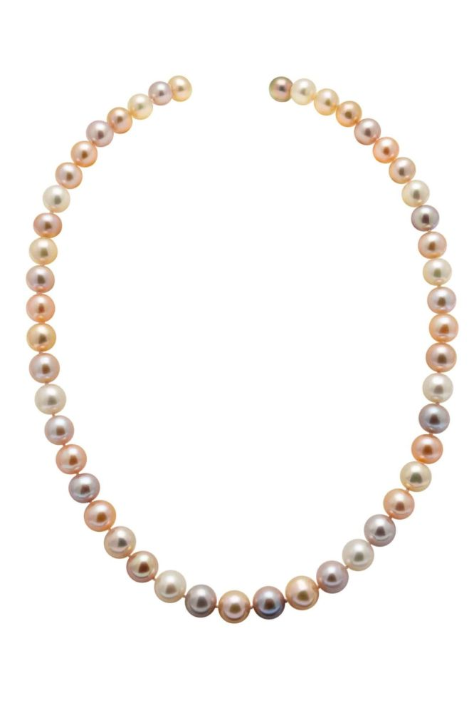 Freshwater Multi-colour Pearl Necklace 9.0-9.5mm AAA Grade