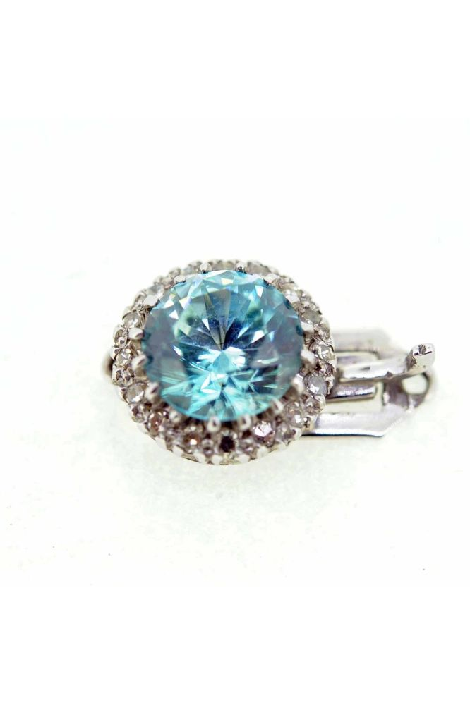 Blue Zircon and Diamond Fancy Clasp - main image