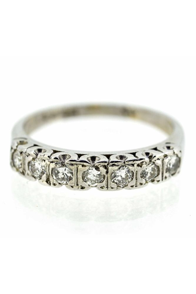 18ct White Gold Diamond Half Eternity Ring - main image