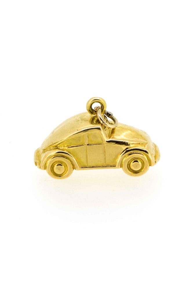 1960s Gold Beetle Car Charm/Pendant - main image