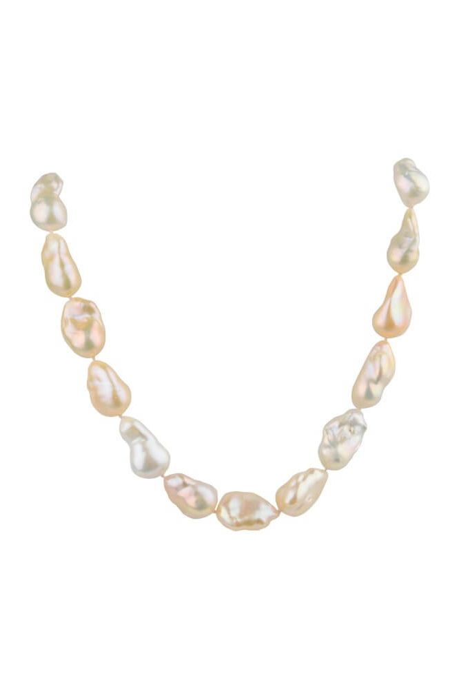 Freshwater Baroque Natural Colour Pearl Necklace | 18ct Yellow Gold
