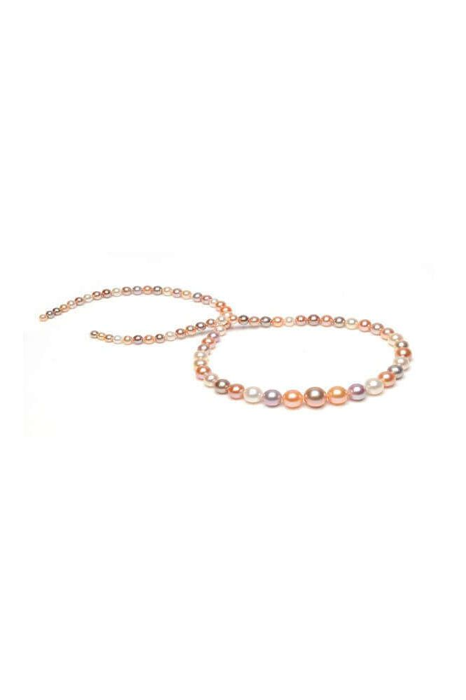 Freshwater Multi Colour Pearl Graduated Necklace