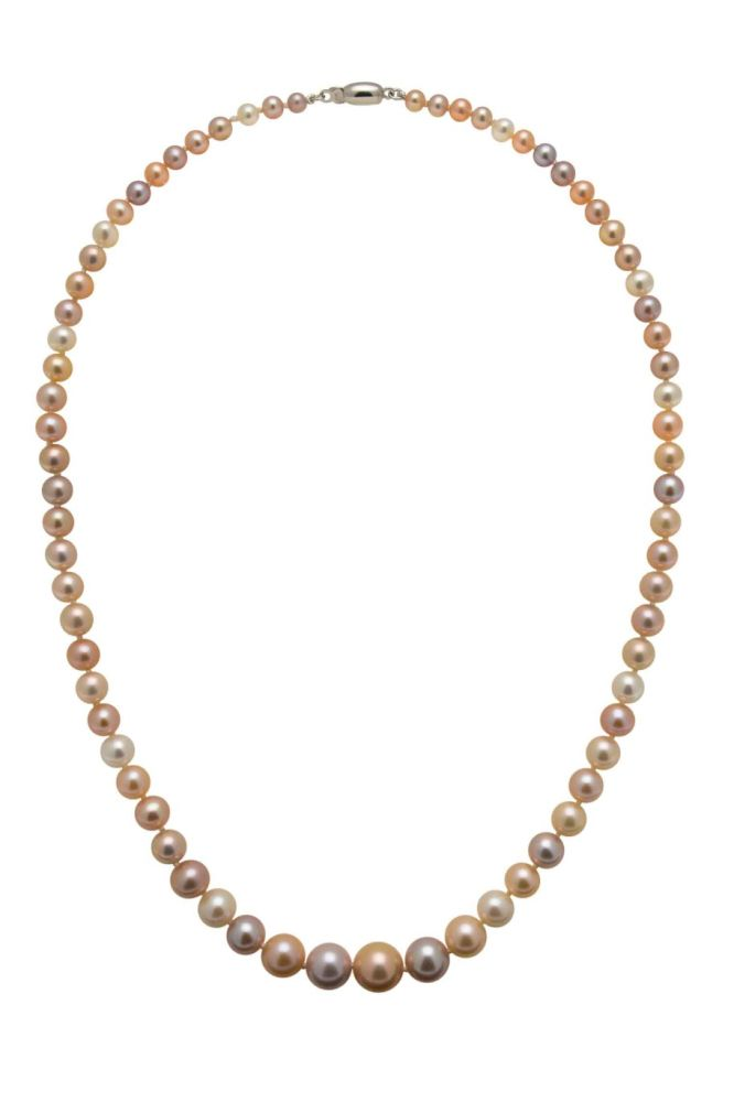 Graduated Multicoloured Freshwater Pearl Necklace