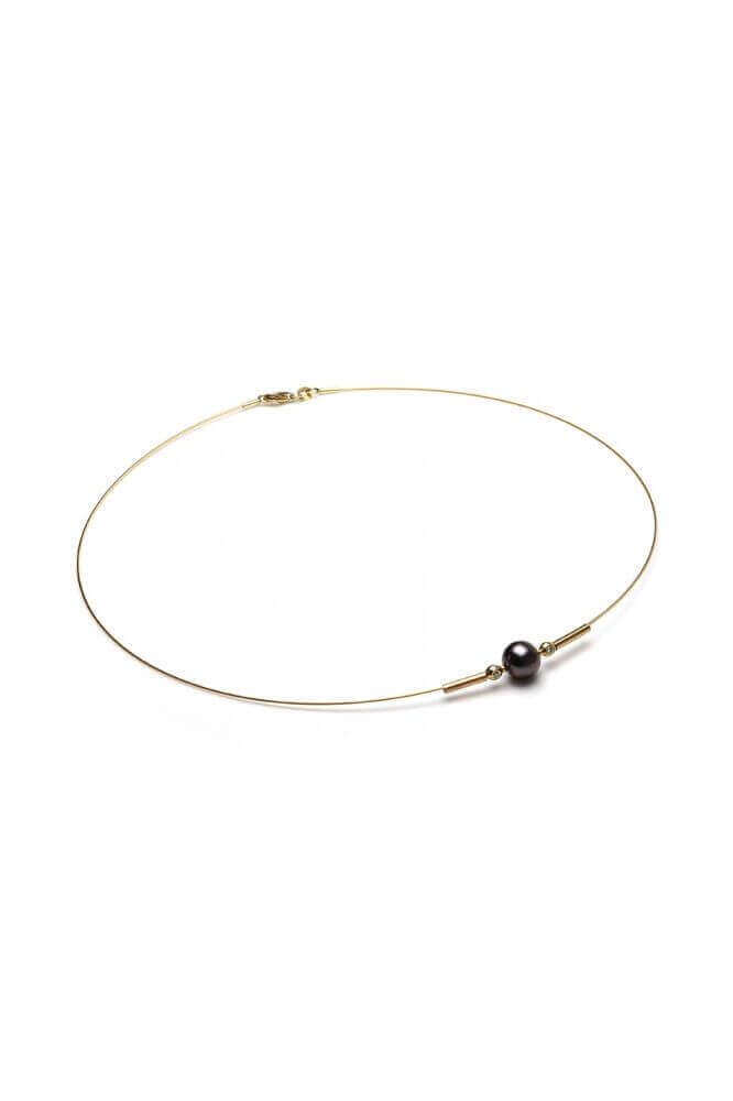 Freshwater Floating Pearl & Diamond Choker